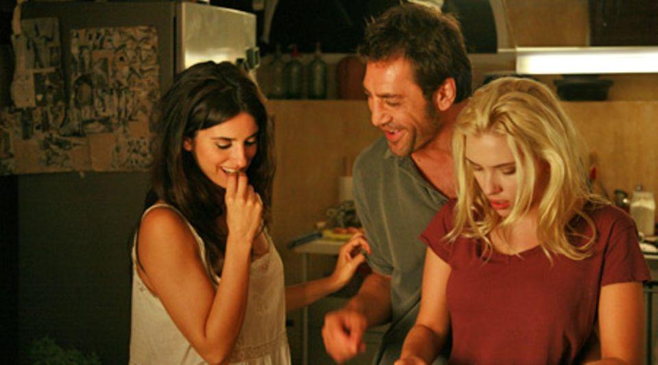 Ménage-à-trois: Die Ex (Penélope Cruz), der Maler (Javier Bardem) und die neue Flamme (Scarlett Johansson). Da braut sich was zu