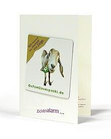 """Diese """"OxfamUnverpackt""""-Grußkarte bekommt der Beschenkte zugeschickt"""