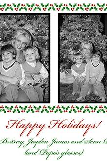 """Happy Holidays! Love Britney, Jayden James, and Sean Preston (and papa's glasses)"""