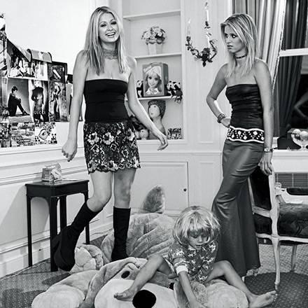 """""""An diesem Foto ist nichts gestellt. Ich habe Paris  und Nicky Hilton, die damals noch total unbekannt waren, 1999 zu Hause besu"""