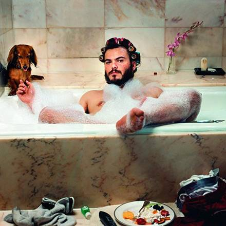 """""""'Auf keinen Fall darf er in die Badewanne, das ist absolut unmöglich', sagte Jack Blacks PR-Frau entsetzt, als sie meinen Vorsc"""