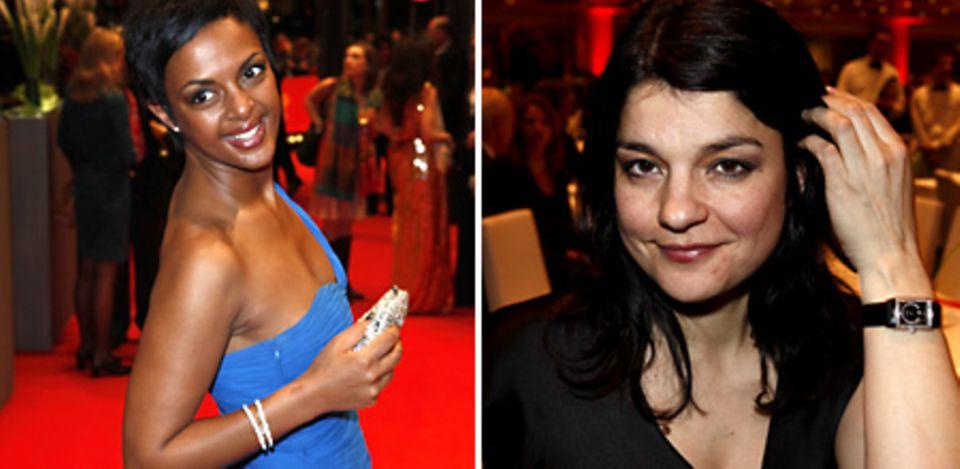 """Dennenesch Zoudé und Jasmin Tabatabai taten es ihrem Hollywoodkollegen gleich und zeigten sich mit funkelnden Uhren von """"Jaeger-"""