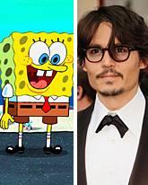 SpongeBob und Johnny Depp