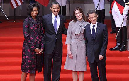 Die beiden Präsidenten-Paare verstehen sich bestens.
