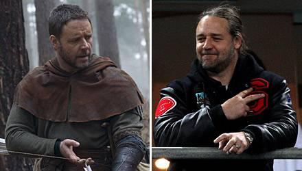 """Russell Crowe ist bei Dreharbeiten zur """"Robin Hood""""-Verfilmung deutlich schlanker"""