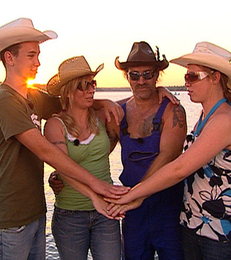 Die Reimanns: Sohn Jason, Mutter Manuela, Vater Konny und Tochter Janina