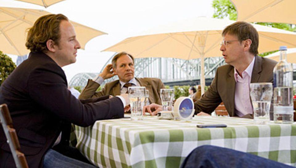 Günther Jauch im Gespräch mit Gala-Redakteur Alexander Stilcken (li.)