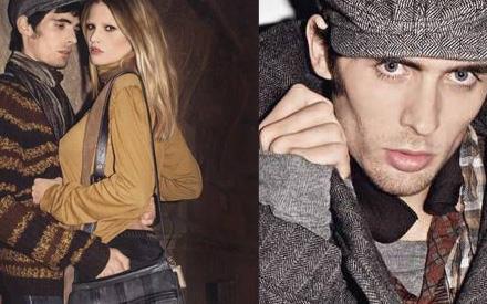"Dieses Model rockt: Sänger Tyson Ritter hat Topmodel Lara Stone in der ""Boss Orange""-Kampagne fest im Griff"