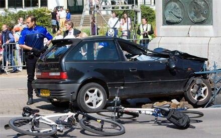 Mit diesem Wagen raste der Fahrer in die Menschenmenge