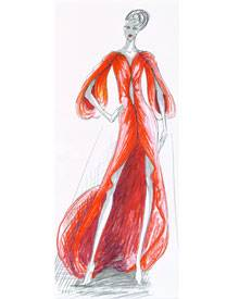 Illustration der Chiffon-Robe für ein Happy-End von Anja Gockel