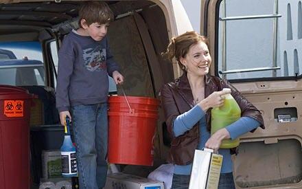 Putztag für Oscar (Jason Spevack) und Rose (Amy Adams)