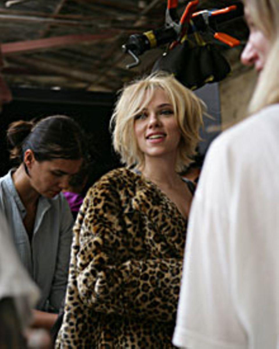 """Scarlett Johansson am Set für die neue Kampagne für """"Mango"""""""