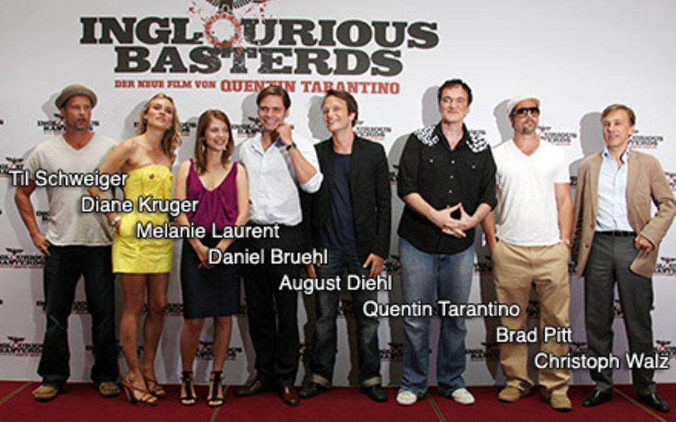 Alle Bastarde auf einem Blick: Til Schweiger, Diane Kruger, Melanie Laurent, Daniel Bruehl, August Diehl, Quentin Tarantino, Bra