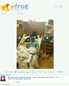 """Brody Jenner hat das Bild von sich im Krankenbett bei """"Twitter.com"""" eingestellt"""
