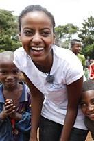 Sara Nuru in Äthiopien