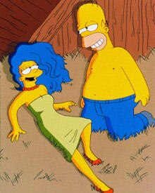 Schon in der Serie durfte Marge Simpson ihrem Homer des öfteren den Kopf verdrehen.