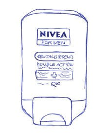 """Double Action After Shave Balsam"" von Nivea For men, 100 ml, ca. 7 Euro"