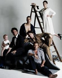 Mannsbilder (v. l.): Wotan Wilke Möhring, Simon Verhoeven (mit einem Baby des Fotografen-Teams), Florian David Fitz, Christian U