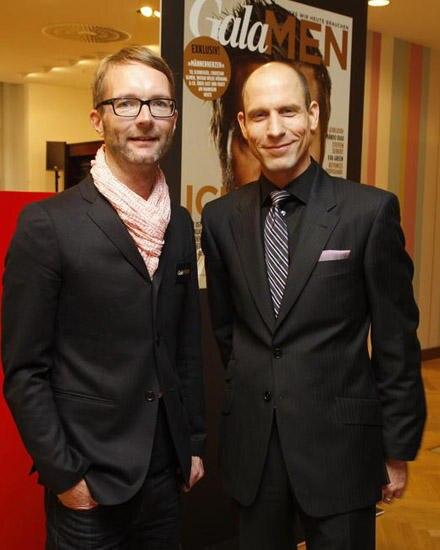Gala-Fashiondirector Marcus Luft und Gregor Steinborn vom KaDeWe.