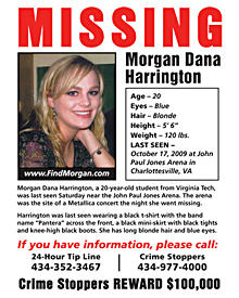 Mit diesem Plakat suchen Metallica nach der vermissten Morgan.