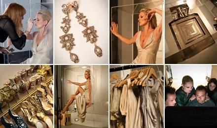 """Stylish, raffiniert und feminin inszeniert sich Kate Moss für das Shooting für ihr neues Parfüm """"Vintage"""", Eau de Toilette, ab 1"""