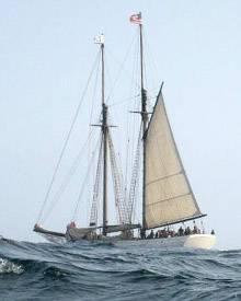 Auf diesem historischen Segelschiff wurde der Zweiteiler vor der Ostküste Kanadas gedreht.