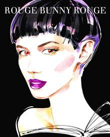 """""""Savoir-Faire"""" nennt Rouge Bunny Rouge den herbstlichen Look, der ein leichtes Augen-Make-up mit dunkel schimmernden Lippen komb"""