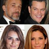 Christoph Waltz, Matt Damon, Penélope Cruz, Sandra Bullock