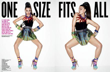 """Crystal Renn, das erfolgreichste Plus-Size-Model ließ sich für eine Strecke des """"V Magazine"""" fotografieren. Der Clou: Sie präsen"""