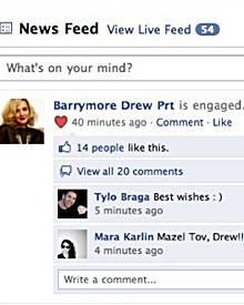Diesen Screenshot verbreitete ein Freund von Drew im Internet.
