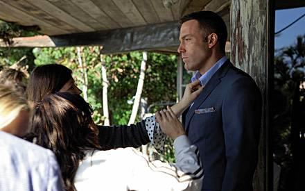 Beim P&C-Shooting überlässt Ben Affleck anderen die Führung.