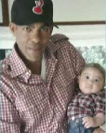 Wie der Papa so die Tochter: Chris mit seiner Tochter Stella Luna