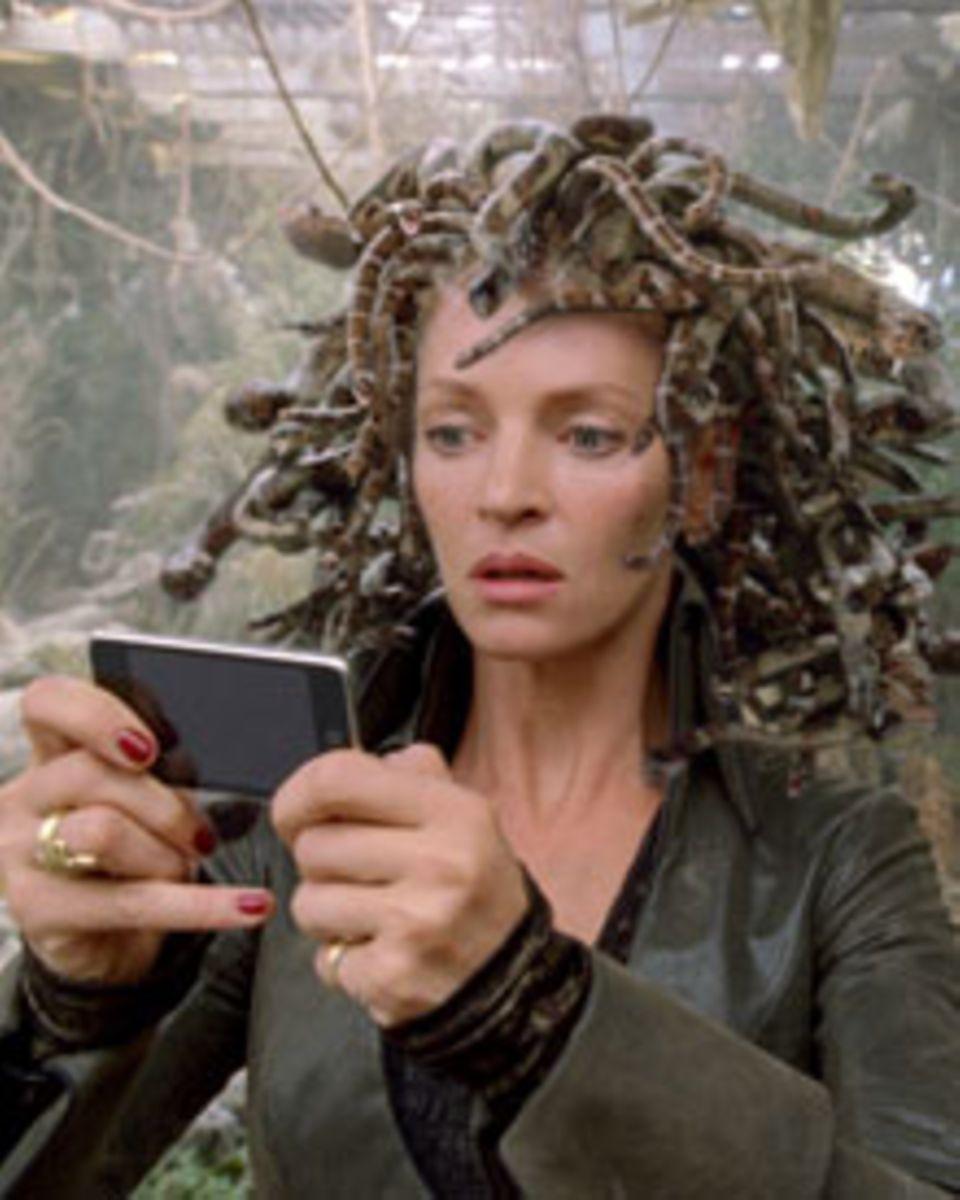 Uma Thurman mal wieder in einer coolen Rolle, als Medusa mit dem Todesblick.