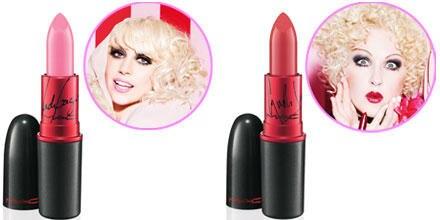 """Lady GaGas """"Vica Glam GaGa"""" leuchtet in hellem Pink mit leichtem Blauchstich. """"Viva Glam Cyndi"""" wartet dagegen mit sattem Korall"""