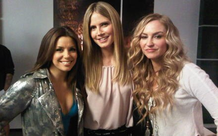 "Heidi Klum zusammen mit den ""Desperate Housewives""  Eva Longoria und Drea de Matteo."