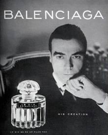 Cristóbal Balenciaga, hier auf einem Werbeplakat von 1947, eröffnete einen Schneidersalon in San Sebastián.