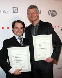 Tatort-Kommissare Boris Aljinovic und Dominik Raacke beim Hörfilmpreis 2009