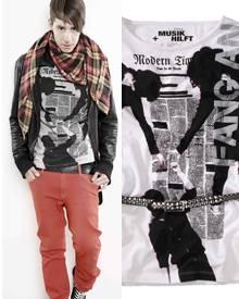 """""""Musik hilft"""" by Kilian Kerner - das Shirt aus der Charity-Linie trägt der Designer hier selbst. Für Ladies stehen Weiß und Pink"""