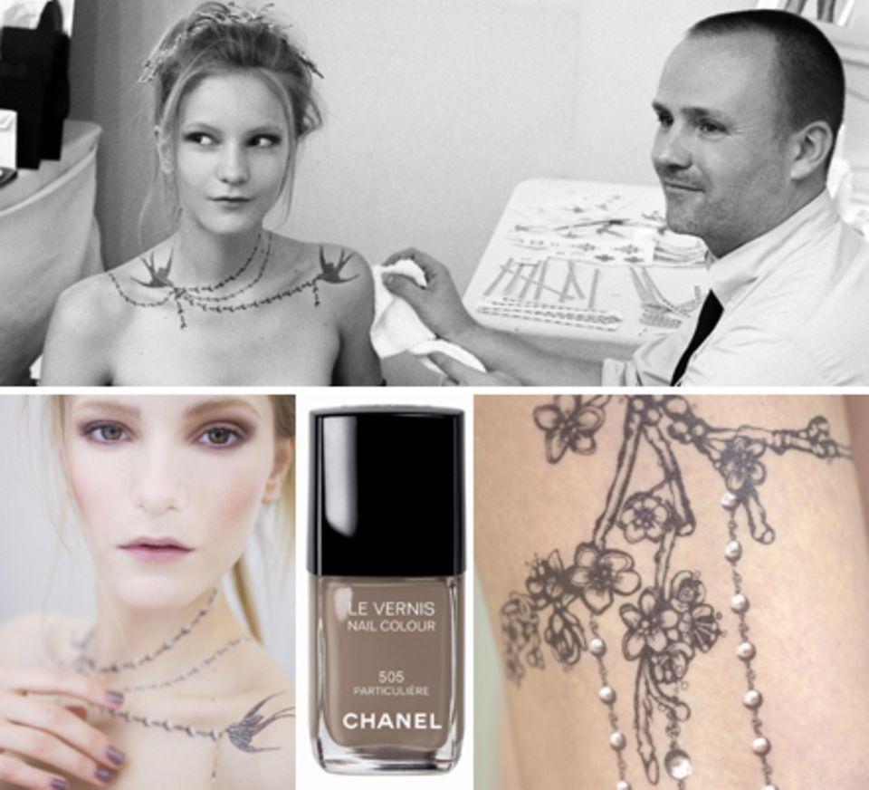 """Zauberhafte Tattoos zum Aufkleben und der Kult-Nagellack """"Particulière 505"""" von Chanels Make-up-Genie Peter Philips"""