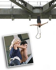Baptiste mit Model Natalie und beim Bungee-Sprung von der Harbour Bridge in Auckland.