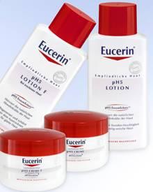 Eucerin pH5 Cremes und Lotionen reduzieren das Eindringen von Pollenallergenen in die Haut, z.B. pH5 Lotion, 200 ml, ca. 11 Euro