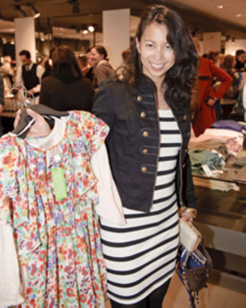 Fashionistas wie Minh-Khai Phan-Thi interessierten sich besonders für die Blümchenprints der H&M The Garden Collection, bei der