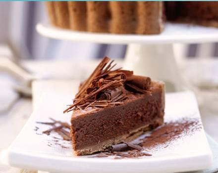 Schokoladentrüffel-Tarte, nach einem Rezept aus der Sylter Sansibar.