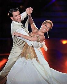 """Mit ihrem Tanzpartner Christian Bärens gehört Sylvie an der Vaart zu den Favoriten von """"Let's Dance""""."""
