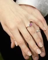 Gepflegte Hände zur Hochzeit.