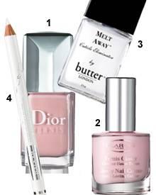 """1 """"Dior Vernis"""" Nagellack von Dior (ca. 21 Euro), 2 """"Glossy Nail Colour"""" von Clarins ( ca. 16 Euro), 3 Nagelhautentferner """"Melt"""