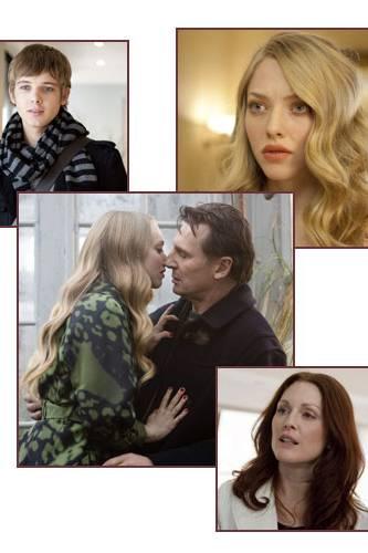 """Großes Schauspielvergnügen: Julianne Moore und Amanda Seyfried machen """"Chloe"""" toll, Liam Neeson und Max Thieriot (oben links, de"""