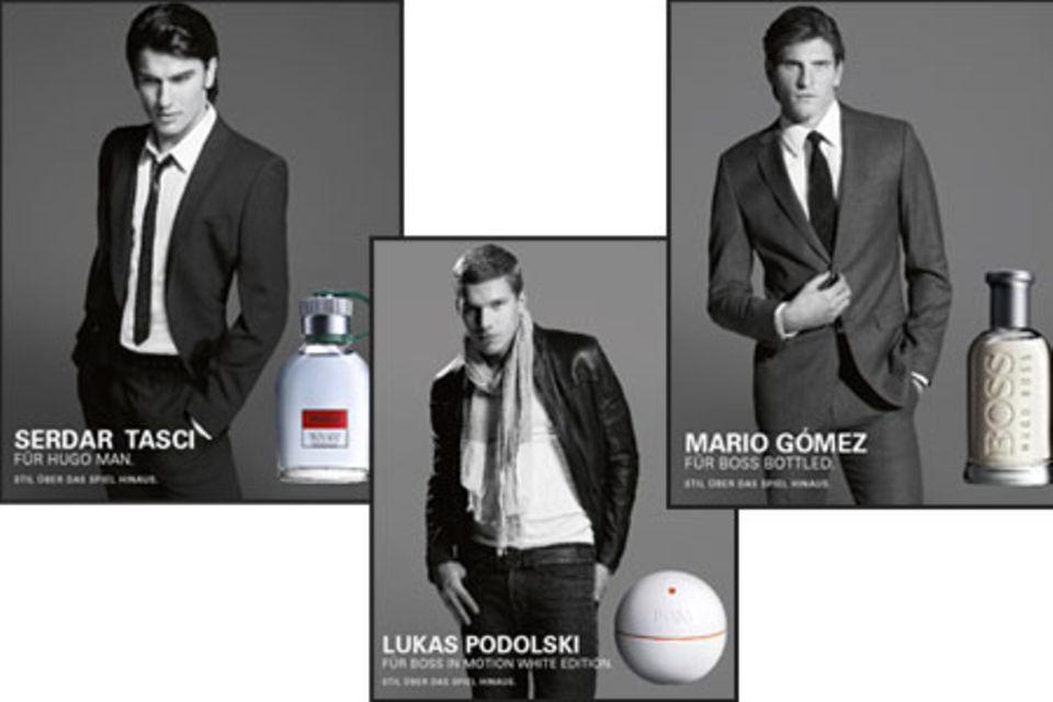 Serdar Tasci Lukas Podolski und Mario Gómez sind die neuen Kampagnenstars von Hugo Boss Fragrances.