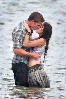 Schon während dieser Filmszene kribbelte es bereits zwischen Liam und Miley.