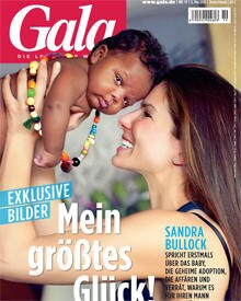 Das Titelbild, auf dem Sandra Bullock ihren kleinen Sohn präsentiert, ziert die Gala-Ausgabe Nr. 19, die ab 6. Mai im Handel ist
